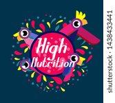 high nutrition  beautiful... | Shutterstock .eps vector #1438433441