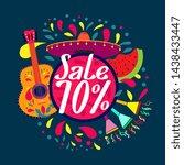 sale 70   beautiful greeting... | Shutterstock .eps vector #1438433447