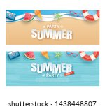 summer party invitation banner... | Shutterstock .eps vector #1438448807