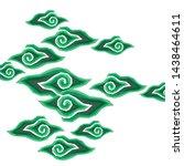 indonesian batik green mega...   Shutterstock .eps vector #1438464611