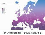 europe map. vector map of... | Shutterstock .eps vector #1438480751
