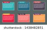 text news infographics blocks...