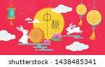 chinese mid autumn festival... | Shutterstock .eps vector #1438485341