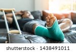 Bone Fracture Foot And Leg On...