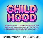 childhood alphabet design for... | Shutterstock .eps vector #1438504631