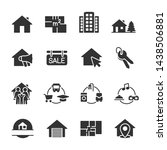 vector set of real estate icons. | Shutterstock .eps vector #1438506881