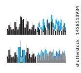 modern city skyline . city...   Shutterstock .eps vector #1438513934