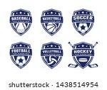 sport club logo set template... | Shutterstock .eps vector #1438514954