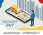 isometry cargo delivery... | Shutterstock .eps vector #1438543217