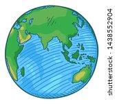 vector single cartoon color...   Shutterstock .eps vector #1438552904