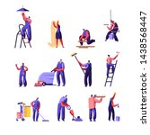cleaning and repair service... | Shutterstock .eps vector #1438568447