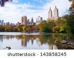 new york city manhattan central ... | Shutterstock . vector #143858245