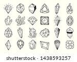icon vector outline set  ... | Shutterstock .eps vector #1438593257