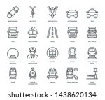 land transport icons  oncoming... | Shutterstock .eps vector #1438620134