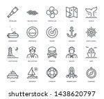 nautical icons   monoline...   Shutterstock .eps vector #1438620797
