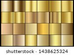golden chrome metallic texture... | Shutterstock .eps vector #1438625324