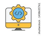 web development icon isolated....
