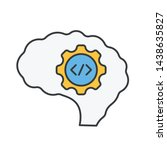 coding mind icon. creative...