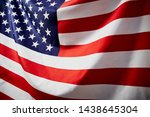 close up american flag wave ... | Shutterstock . vector #1438645304