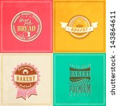 vintage retro bakery badges and ... | Shutterstock .eps vector #143864611
