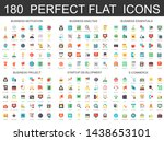180 modern flat icons set of... | Shutterstock . vector #1438653101