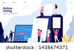 election landing. online voting ... | Shutterstock .eps vector #1438674371