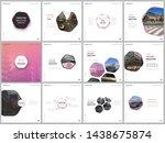 minimal brochure templates with ... | Shutterstock .eps vector #1438675874