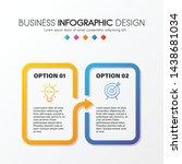 colourful diagram infograph... | Shutterstock .eps vector #1438681034