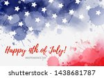 usa happy 4th of july...   Shutterstock .eps vector #1438681787