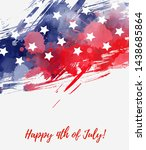 usa happy 4th of july...   Shutterstock .eps vector #1438685864