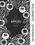 apple branches design template. ... | Shutterstock .eps vector #1438687334