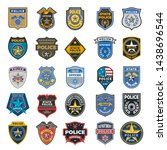 police badges. officer security ... | Shutterstock .eps vector #1438696544