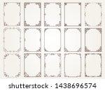 calligraphic frames. borders... | Shutterstock .eps vector #1438696574