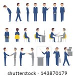 business man pose collection | Shutterstock . vector #143870179