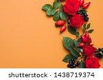 Autumn Floral Arrangement. Red...