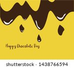 happy chocolate day  can use... | Shutterstock .eps vector #1438766594