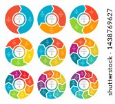 set of infographic process... | Shutterstock .eps vector #1438769627