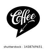 coffee logo in bubble cloud... | Shutterstock .eps vector #1438769651