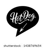 hot dog logo in bubble cloud... | Shutterstock .eps vector #1438769654