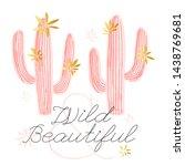 cactus succulent wild golden... | Shutterstock .eps vector #1438769681