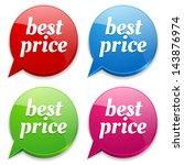 colorful best price speech... | Shutterstock .eps vector #143876974