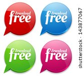 colorful free download speech... | Shutterstock .eps vector #143877067