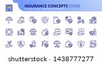 simple set of outline icons...   Shutterstock .eps vector #1438777277