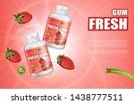 strawberry chewing gum vector...   Shutterstock .eps vector #1438777511
