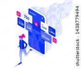 modern flat design isometric... | Shutterstock .eps vector #1438779494