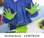 midsection of young boy with... | Shutterstock . vector #143878234