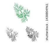 vector design of dill and... | Shutterstock .eps vector #1438804961