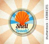 Sea Shell On The Shore. Vector.