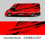 vehicle graphic wrap design. ... | Shutterstock .eps vector #1438821407