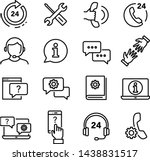 customer service icons set  can ... | Shutterstock .eps vector #1438831517
